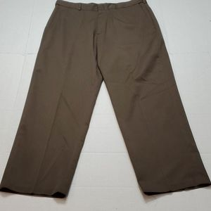 Haggar Dress Pants flat front Brown 36 × 29